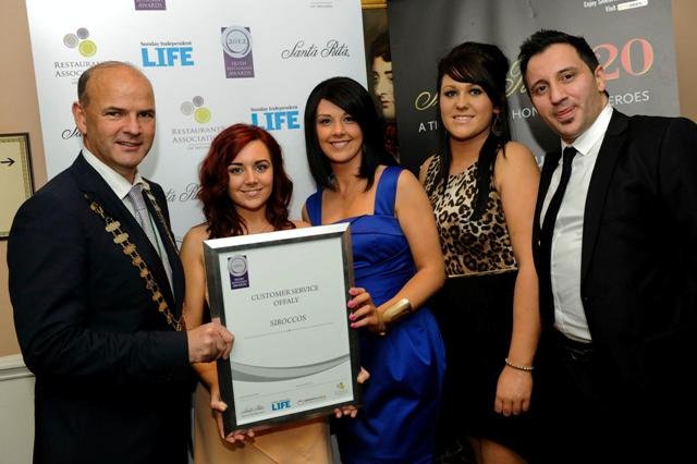 Irish Restaurant Awards 2012 Best Customer Service Offaly